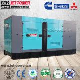60Hz 440V Estrutura silenciosa resfriada 125kVA gerador portátil com ATS