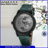 ODM Cuarzo correa de cuero de moda señoras reloj de pulsera (Wy-115B)
