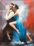 La reproducción de Fabian Perez Los amantes del baile de la pintura artesanal