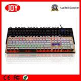 Освещенная контржурным светом СИД связанная проволокой USB клавиатура разыгрыша RGB механически