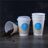 Retire as bebidas de café quente de parede dupla copos de papel