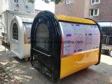 2017 chariots chauds de vente d'aliments de préparation rapide de vente