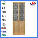 Porte de pliage solide de brame de chêne de douche Bifold de cabinet à vendre