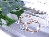 별 모양 새로운 디자인 지르콘 돌 여자 귀걸이를 위한 간단한 로즈 금 도금