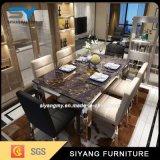 Tabela de mármore ajustada moderna da tabela de jantar da mobília