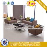 Los asientos de cuero negro 5 Estructura de madera Oficina sofá (HX-CS033)