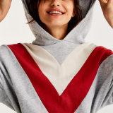 Femmes en gros vêtant l'impression faite sur commande de Hoodie de longue collecte de chemise