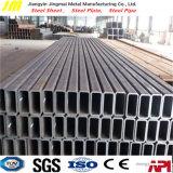 Tubo cuadrado de acero galvanizado del recocido de la depresión del tubo rectangular negro de la sección