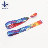 Custom тканью браслеты ткань один раз пластиковые браслеты блокировки