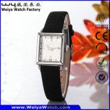Orologio casuale classico delle signore del quarzo della cinghia di cuoio (Wy-056D)