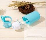 De Fles van het Water van het Glas van de Gift van de bevordering met de Koker van het Silicone