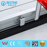 Porte argentée mate matérielle de douche de bâti d'alliage d'aluminium (BL-F3019)