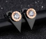 De zwarte Oorringen van de Nagel van de Driehoek voor Oorringen van het Huwelijk van het Zirkoon van de AMERIKAANSE CLUB VAN AUTOMOBILISTEN van de Brieven van het Metaal van Vrouwen de Geometrische Roman voor de Kristallen van Bruiden