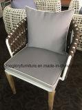 새로운 디자인 벨트에 의하여 길쌈되는 알루미늄 프레임 2인용 의자 소파 옥외 가구