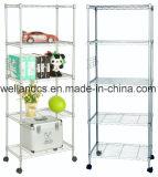 Montaje muebles metálicos ajustable de 5 niveles el cable Book Rack estanterías