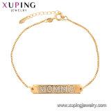 La moda Pulsera magnética joyas chapado en oro.