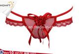Cadena atractiva Tumblr de G del cordón de la ropa interior de las bragas eróticas encantadoras transparentes florales de las muchachas
