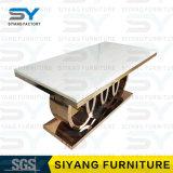 Cena del vector de cena de cristal de la fábrica de los muebles de la silla para 6 Seater