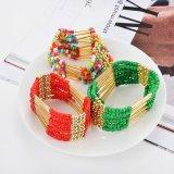Multicolors Böhmen Retro multi Reihen gebördeltes Armband u. Armband, Form-Schmucksachen