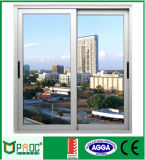 Ventana de desplazamiento de aluminio del perfil con el vidrio Tempered hecho en China