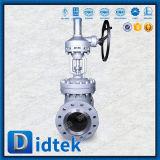 El volante de dirección de Didtek ensanchó válvula de puerta del acero inoxidable CF3m de los extremos