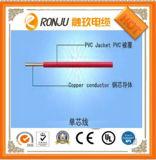 Fio isolado PVC de cobre da potência do núcleo