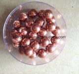 Cor de baixo carbono sólido 15mm 16mm 17mm Rose Gold a esfera de aço para o jogo