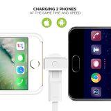 прочная 3.3 FT) молния зарядного кабеля 2-in-1 (и микро- USB для iPhone, iPad, Samsung, LG, всего Android Smartphones & больше
