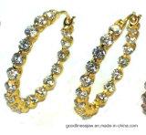 새로운 둥근 귀걸이 여자 (E6952S)를 위한 가득 차있는 모조 다이아몬드 원형 귀걸이 귀걸이