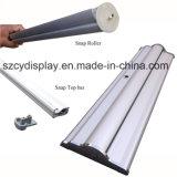 Fácil cambio de Banner Roll up Stand/aluminio fácil cambiar el gráfico Banner Roll up Stand