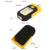 luz al aire libre del trabajo de la base magnética LED de la batería de la MAZORCA 3W con el gancho de leva
