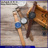 Orologio classico su ordinazione del quarzo della cinghia di cuoio delle signore di modo (WY-P17013B)
