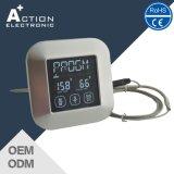 Termômetro digital de aço inoxidável com tela de toque de aço inoxidável com sonda para cozinha