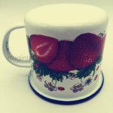 Taza de encargo impresa llena del esmalte, taza del regalo de la promoción, taza de café del esmalte
