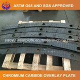 Plaque d'usure de carbure de chrome pour l'auvent