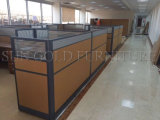 Neues Melamin Kraftstoffregler-Büro-Partition-Systems-ovaler Büro-Arbeitsplatz (SZ-WST799)