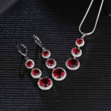 Wholesale 925 Silver Arm Gemstone Earring Necklace Set Jewelry