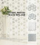 Azulejos de mosaico de mármol de piedra natural flameado para interiores
