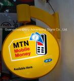 Contenitore chiaro illuminato acrilico esterno su ordinazione di parete LED di Mtn