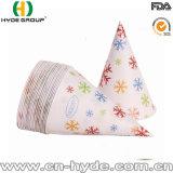 Material impreso el cono de papel desechables de la copa con una cuchara la paja