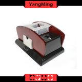 1개 - 2개의 갑판 목제 부지깽이 카드 자동적인 떠돌이꾼과 두 배 사용 트럼프패 상인 단화 (YM-CS06)