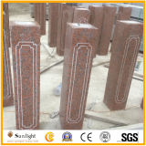 Balustre de marbre en pierre rouge du granit G562 d'érable normal pour la balustrade