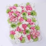 Mur synthétique de fleurs artificielles de décoration de couleur de vente en gros faite sur commande d'intérieur ou extérieure de centrale fausse