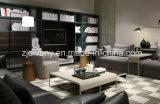 Sofà domestico moderno del tessuto del sofà delle sedi del sofà 3 del cuoio del sofà (D-74-E+B+D)