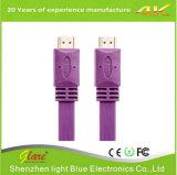 Câble plat coloré 2.0 de HDMI