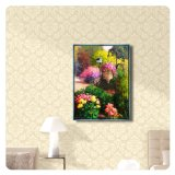 Morden druckt abstraktes Landschaftsblumen-Segeltuch Abbildungen mit Rahmen