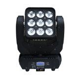 1개의 LED 매트릭스 광속 3X3 이동하는 맨 위 단계 빛에 대하여 Sharpy 9*10W RGBW 4