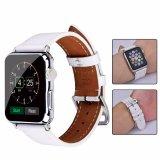 최신 판매 Apple 시계를 위한 버클을%s 가진 남녀 공통 우아한 진짜 가죽 시계 줄