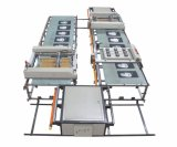 Spt 시리즈 가죽 장을%s 자동적인 평상형 트레일러 스크린 인쇄 기계
