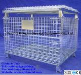 창고 저장을%s Foldable & 쌓을수 있는 직류 전기를 통한 금속 와이어 메시 깔판 콘테이너